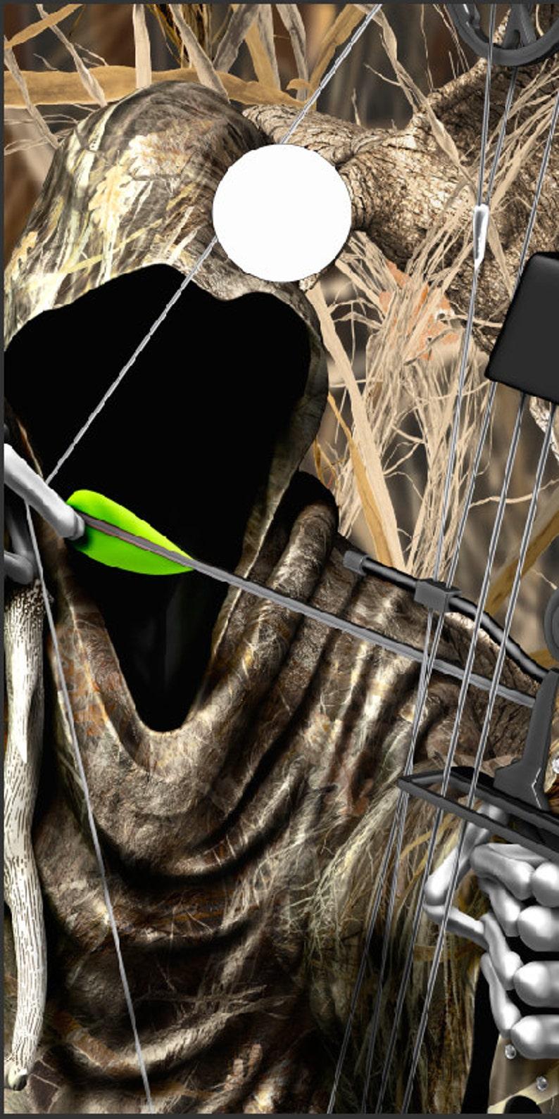 Bow Reaper Tallgrass Duck Camo Cornhole Wrap Bag Toss Decal Baggo Skin Sticker Wraps