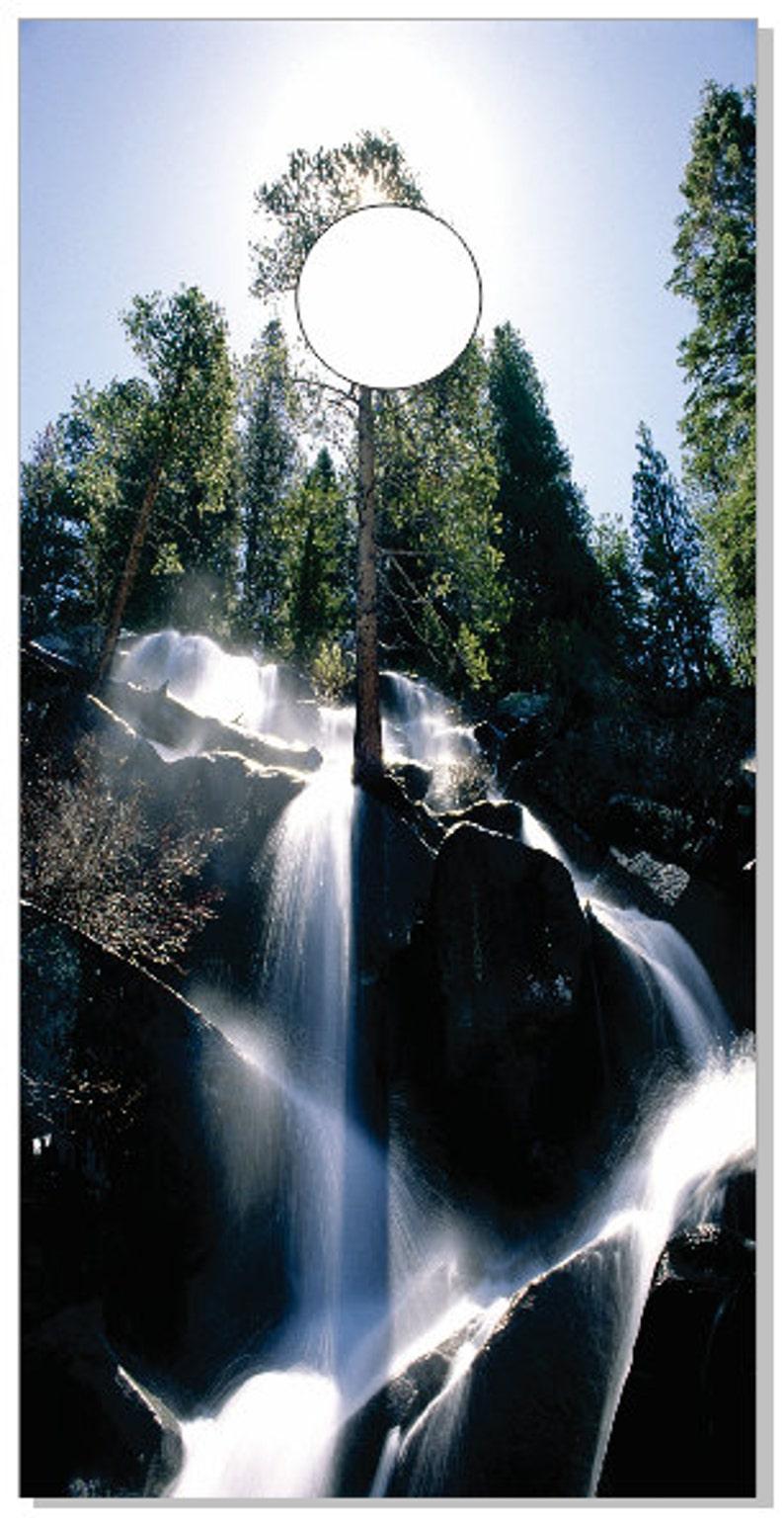 Waterfall2 LAMINATED Cornhole Wrap Bag Toss Decal Baggo Skin Sticker Wraps