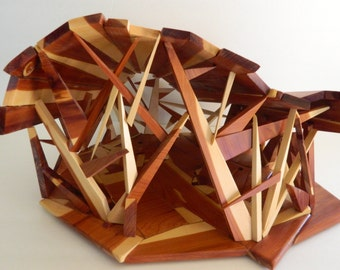 Handcrafted, OOAK art object, repurposed wood sculpture, unique art object, abstract sculpture, art object, meditation art, MCM