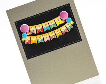 Happy Birthday Card_High Contrast Card, For Him, For Her, Blank Card