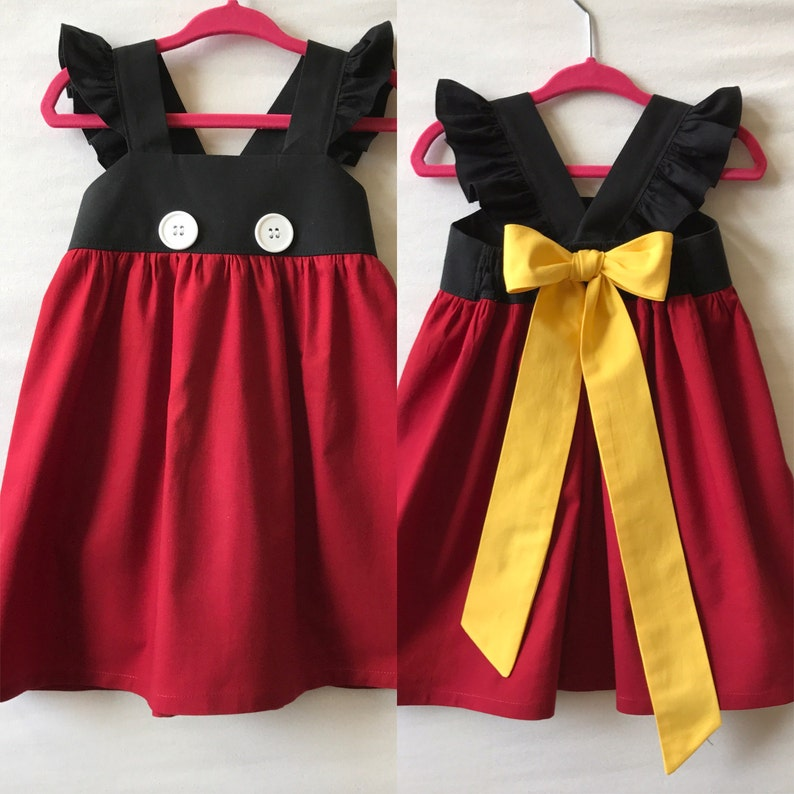 9f3f4122fbaa Mickey Mouse Dress Disney Dress Baby Girls Dress Girls