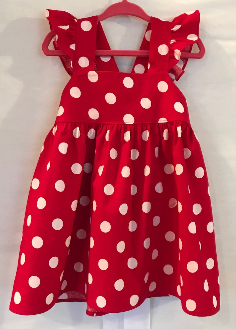 6cee927be461 Minnie Mouse Dress Disney Dress Red White Dress Baby Girls