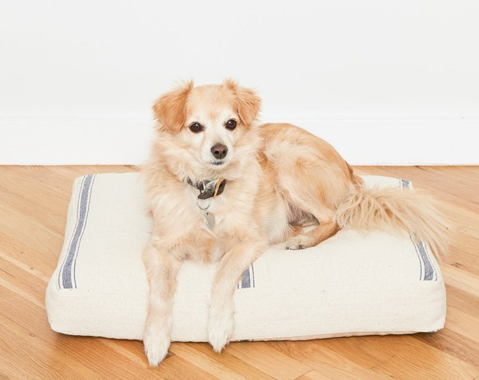 Grain Sack Dog Bed // Quick Ship // Small