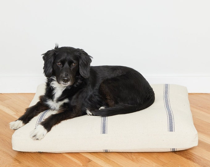 Grain Sack Dog Bed // Quick Ship // Medium