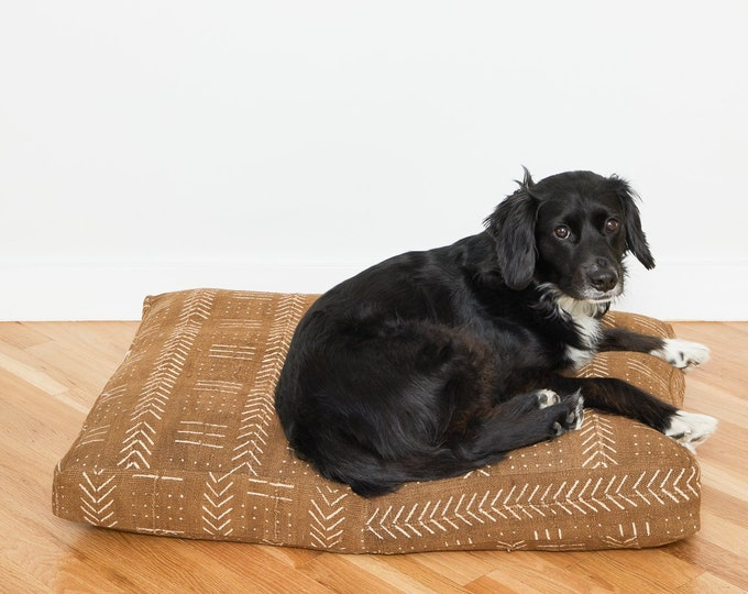 Clay Mudcloth Dog Bed // Small