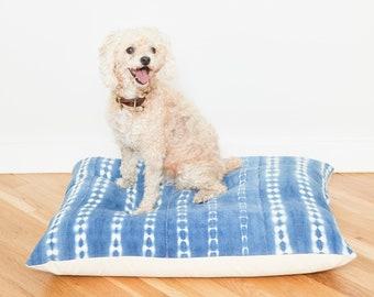 Indigo Shibori Floor Pillow Dog Bed // Medium