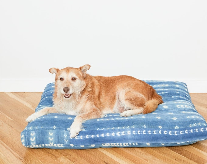 Indigo Shibori Pet Bed // XXL