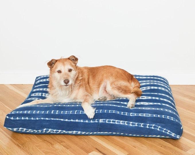 Indigo Shibori Pet Bed // Extra Large