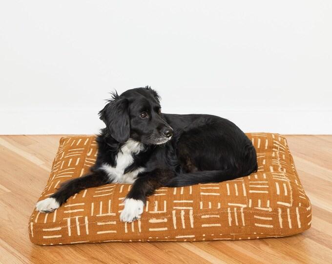 Mustard Mudcloth Dog Bed // Medium