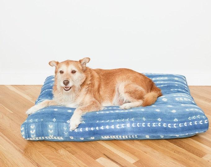 Indigo Shibori Pet Bed // XXL