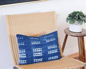 Dark Indigo Shibori Pillow Covers  |  14x20