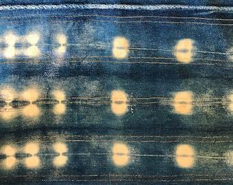 Indigo Shibori Metallic Striped Pillow Cover