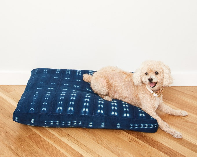 Indigo Shibori Pet Bed // Medium
