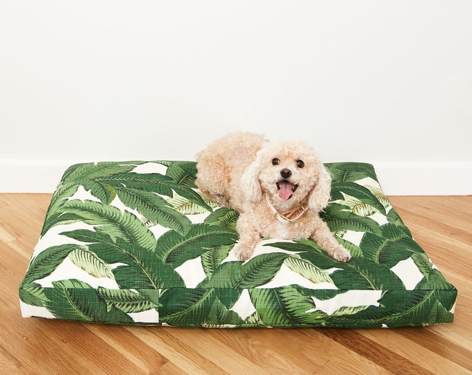 Palm Frond Dog Bed // Quick Ship // Medium