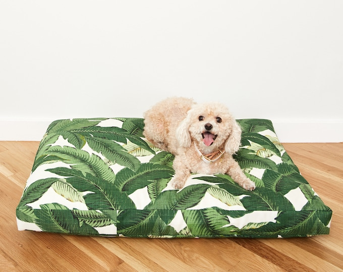 Palm Frond Dog Bed // Made to Order