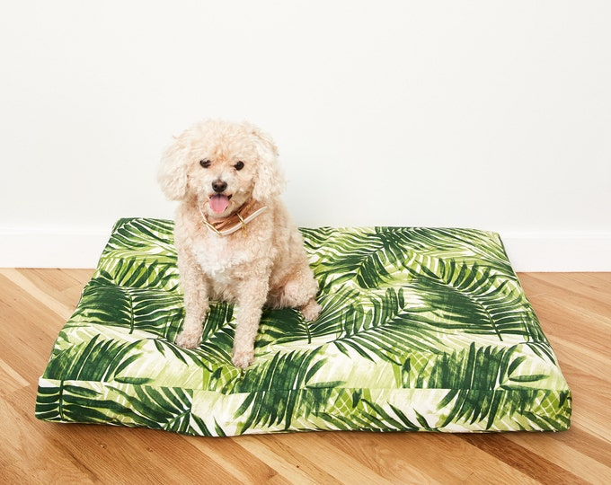 Fern Frond Dog Bed // Quick Ship // Medium