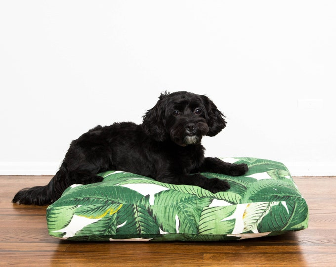 Palm Frond Dog Bed // Quick Ship // Small