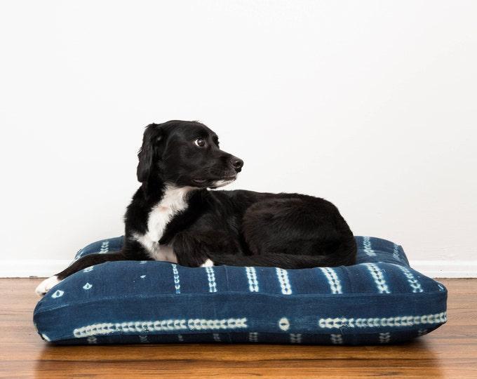ON HOLD: Indigo Shibori Pet Bed // Medium