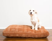 Custom Rust Mudcloth Dog Bed // XXL // Made To Order