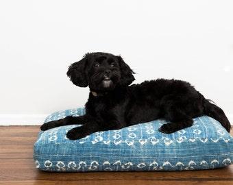 Indigo Shibori Dog Bed // Small