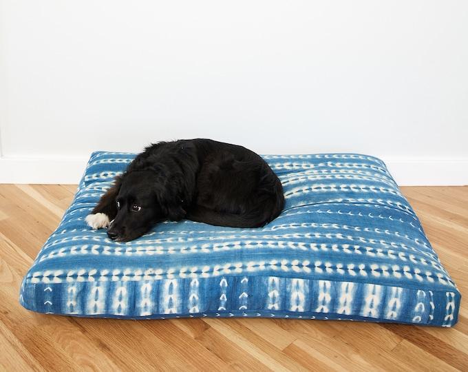 Indigo Shibori Pet Bed // Medium