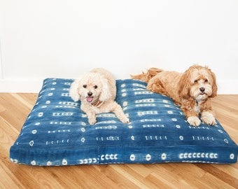 Indigo Shibori Pet Bed // Extra Large XL