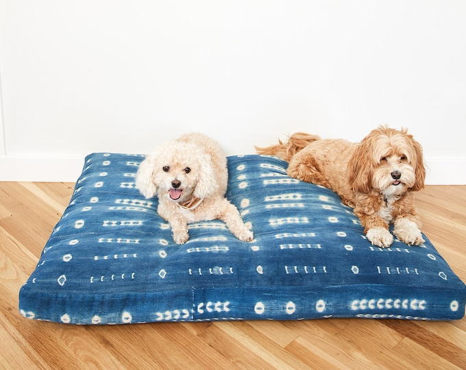Indigo Shibori Pet Bed // Extra Large XL