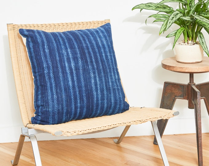Indigo Stripe Pillow Covers