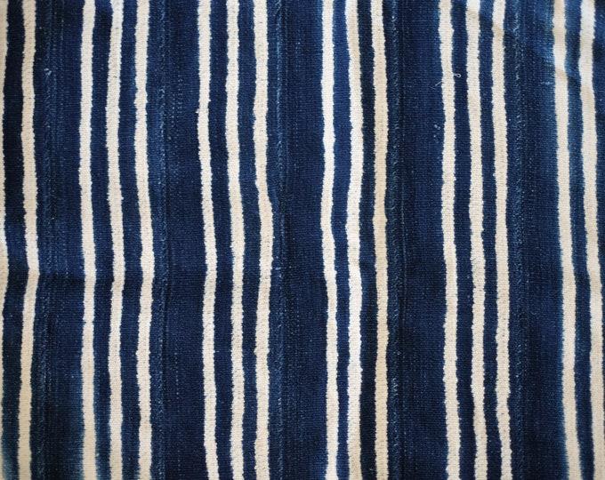Indigo Shibori Stripe Pet Bed // Medium