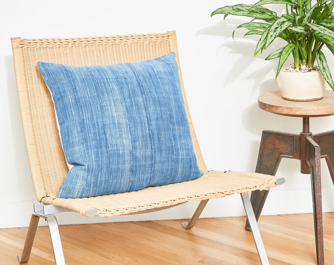 Set of Two Indigo Mudcloth Pillow Covers | Various Colors | Made To Order