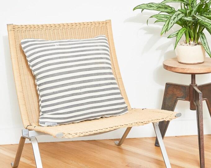 Grey Stripe Pillow Covers