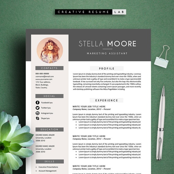 Cover Letter Professional and Creative Resume Teacher Resume Word Resume Instant Download Moore Modern Resume Template  CV Template