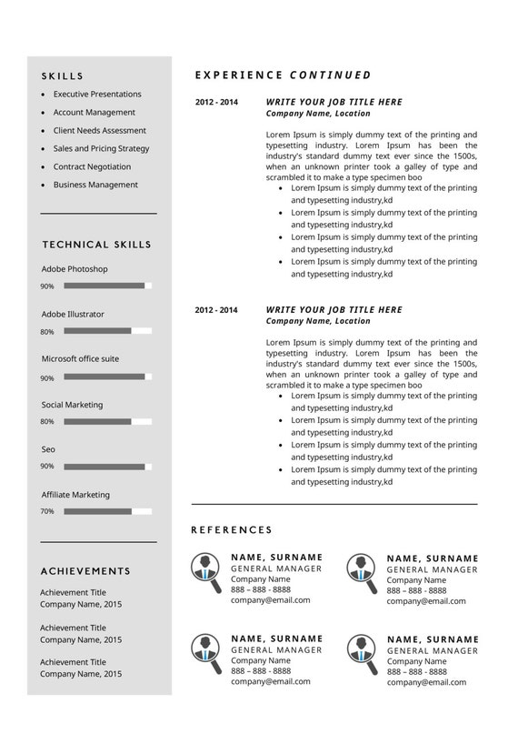 Jillian Modern Resume Template / CV Template + Cover Letter   Professional  and Creative Resume Teacher Resume Word Resume Instant Download