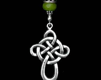 Jade Celtic pendant, Celtic necklace, Celtic Jewelry, Irish, Celtic cross, jade