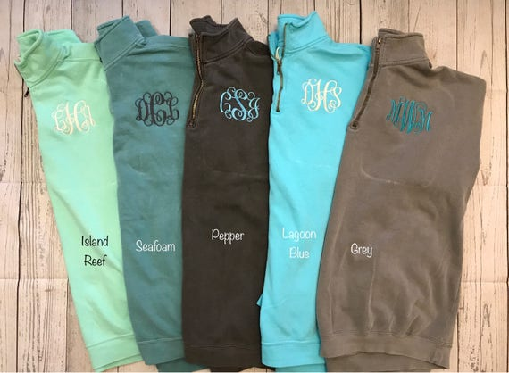 cbb05609207 Monogrammed Comfort Color Pullover