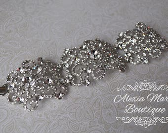 Bridal Princess Pavé Swirl Cuff Bracelet