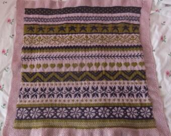 Fairisle Cot Blanket 64cmx60cm