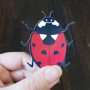 Ladybug Monthly Stickers Ladybug Stickers Red Black Ladybug Nursery Decor Baby Month Sticker Black and Red Infant Photo Props 423