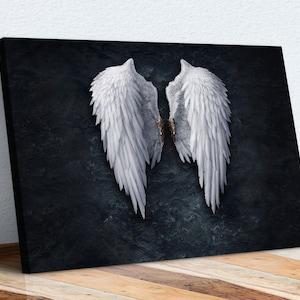 Angel Wings Halo Cloakroom FRAMED ART PRINT Picture Poster Artwork