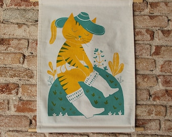 Puss in boots Wall hanging