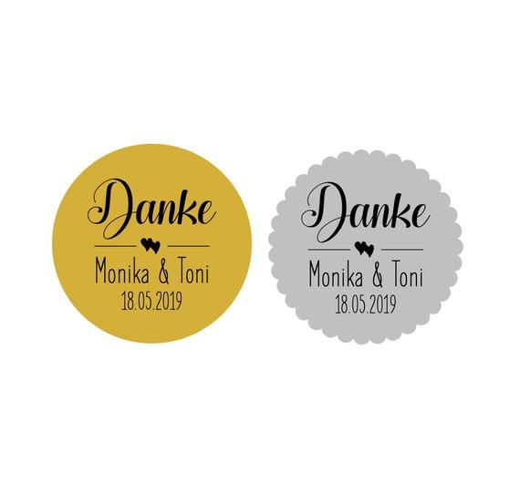 Home Furniture Diy 24 Aufkleber Sticker Etiketten Danke