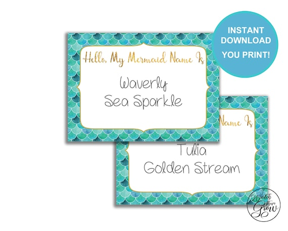 photo regarding Printable Mermaid Pictures titled Mermaid Standing Tag, Printable Mermaid Status Stickers, Mermaid