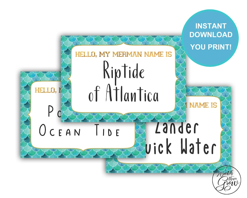 graphic regarding Name Tag Printable titled Merman Track record Tag, Printable Merman Track record Stickers, Merman Reputation Tags, Merman Birthday Social gathering Activity, Merman Boy or girl Shower Video game Quick Down load