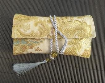 brocade tarot card bag holder, wrap, pouch & reading cloth, large tarot card bag, oracle card bag, tarot accessories, lenormand, tarot gifts