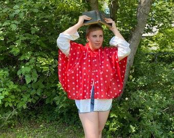 Size 3 Vintage 1990s 90s Girls Pink Purple Blue Floral Knit Woven Ethnic Fringe Poncho