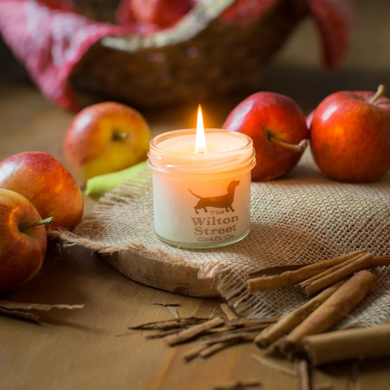 Spiced Apple Candle Spiced Apple Scented Candle Vegan image 0