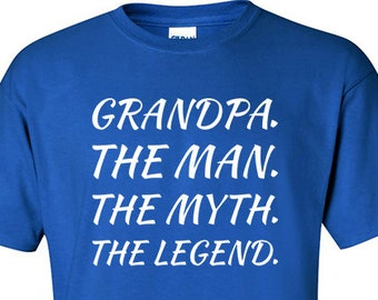 cfd04e1a5 Grandad Gifts | Man Myth Legend Grandpa | Old Grand Dad | Grandpa Shirts |  Grandfather Gifts | Presents for Grandad | S135