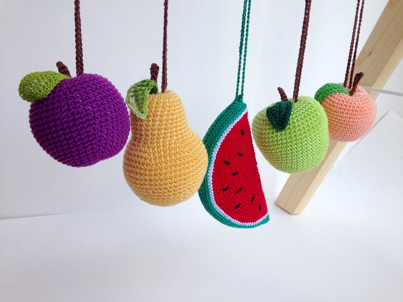 Baby gym toys Fruits  hanging play gym toys crochet rattles image 0