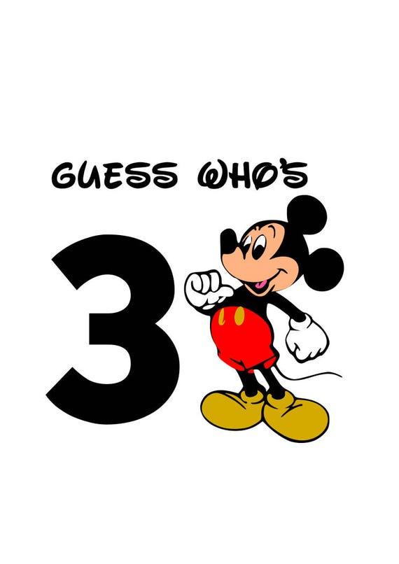 Mickey Mouse Raden Wie Heeft 3 Svg Mickey Mouse Verjaardag Etsy