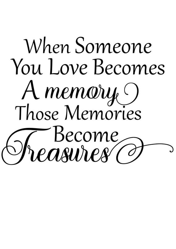 Memorial Svg When Someone You Love Becomes A Memory Svg Svg Etsy